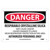 What signs are required for silica hazard areas?
