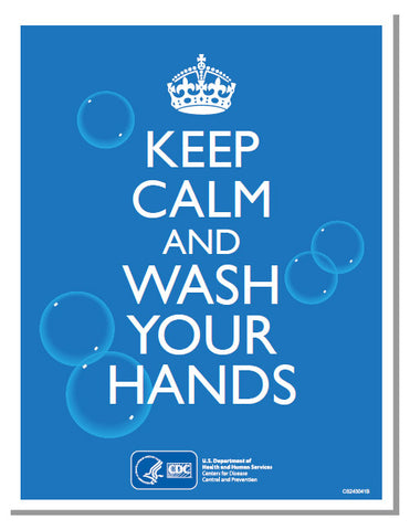 Coronavirus Poster: Keep Calm and Wash Your Hands