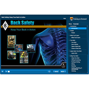 Back Safety Online Training