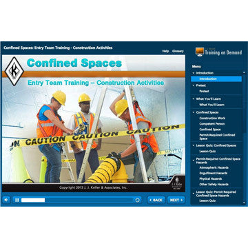 Confined Space in Construction Online Training