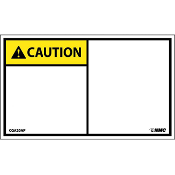 Blank Adhesive Backed Caution Label