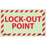 Lockout Point Label Six Hour Glow Polyester