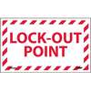 Lockout Point Adhesive Label