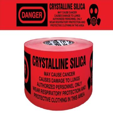 Danger-Crystalline Silica Barricade Tape