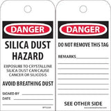 Danger-Silica Dust Hazard Tag