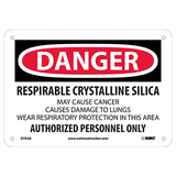 Required Silica Danger Sign