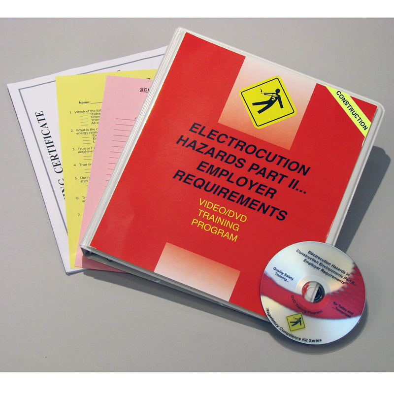 Electrocution Hazards In Construction Environments PART II Employer Requirements DVD Only