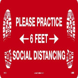 Practice Social Distancing Floor Sign