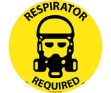 Respirator Required Walk On Floor Sign
