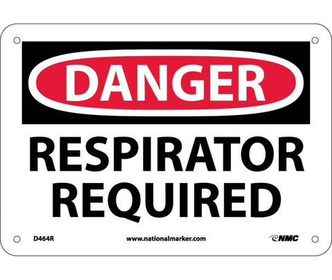 Danger - Respirator Required Sign