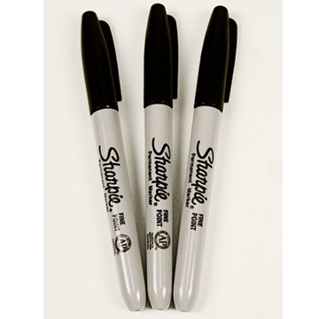 sharpie fine point markers black 3 pack xo safety