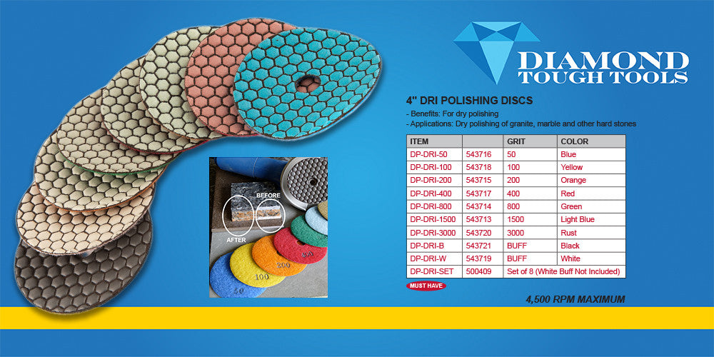 A.Bottini Diamond Tough DP-DRI-SET Polishing Pads