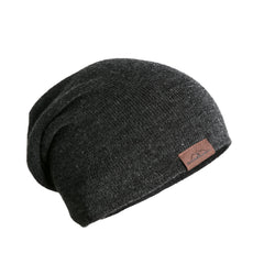 Slouchy Beanie Premium Thick Knit Winter Hat - Grey