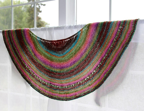 Simple Pleasures Crescent Shawl Pattern Cachealaska