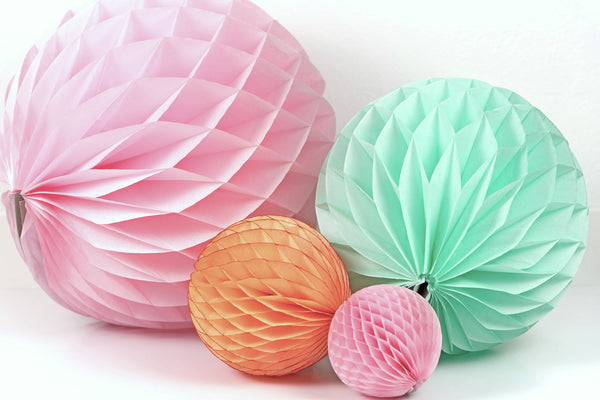 Light Pink Honeycomb Ball