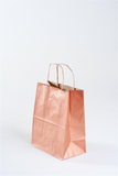 rose gold paper gift bag