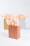 metallic rose gold gift bag