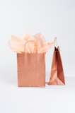 medium gift bag in rose gold