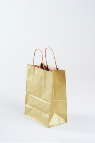 Metallic gold paper gift bag