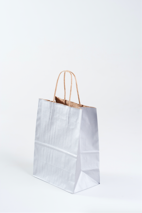 100 silver gift bags soiree supply