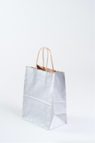 silver paper gift bag