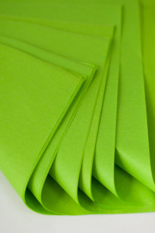 neon green tissue paper sheets