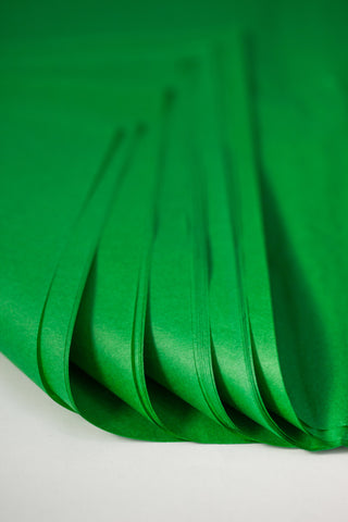 kelly green tissue paper sheets