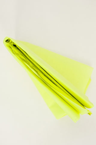 neon yellow tissue paper