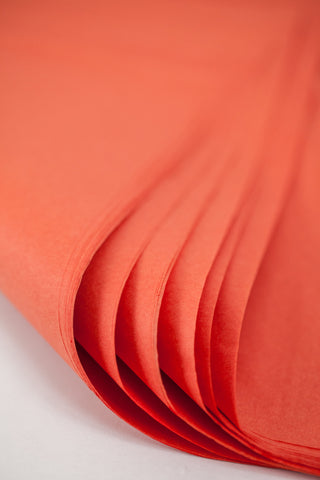 Orange Coral Tissue Paper 24 Sheets - 20 inch x 30 inch