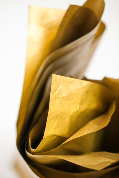 Gold tissue paper sheets