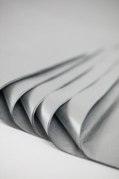 silver tissue paper sheets