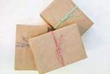 brown kraft paper with bakers twine