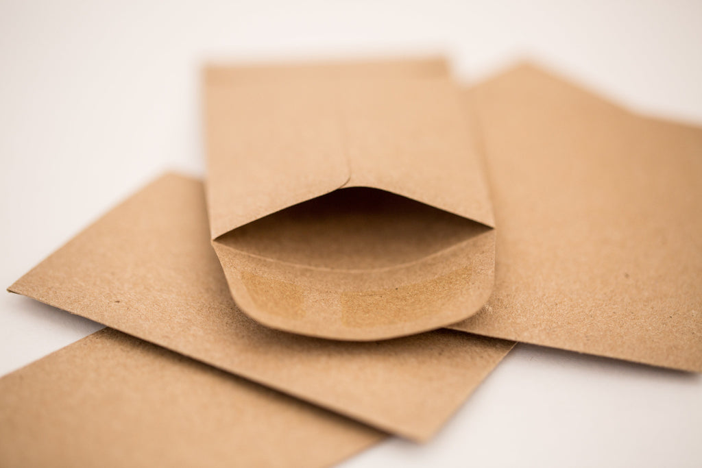 Small Kraft Coin Envelopes - gift card holder or business card ...