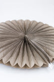 gray paper fan and party decoration