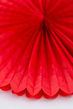 paper fan decorations red