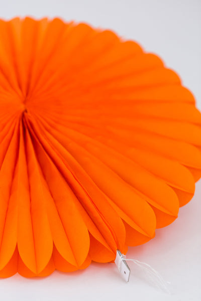 orange tissue paper fan