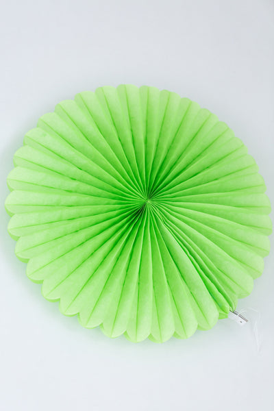 lime green paper fan 10 inch