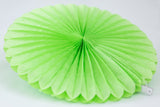 light green tissue paper fan & party decoration