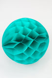 Teal Honeycomb Ball 12 inch | Tissue Paper Honeycomb Decoration