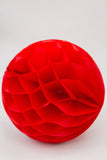 Red Honeycomb Ball 12 inch | Tissue Paper Honeycomb Decoration