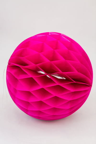 Fuchsia Pink Honeycomb Ball 12 inch | Tissue Paper Honeycomb Decoration