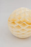Cream Honeycomb Ball 8 inch | Tissue Paper Honeycomb Decoration