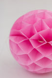 Pink Honeycomb Ball 8 inch | Tissue Paper Honeycomb Decoration