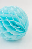 Light Blue Honeycomb Ball 8 inch | Tissue Paper Honeycomb Decoration