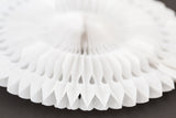 tissue paper fan 12 inch in white
