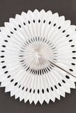 white snowflake paper fan