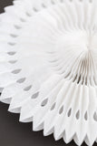 white fancy paper fan 12 inch