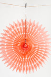 18 inch tissue paper fan peach