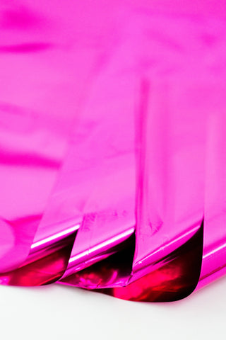 hot pink mylar sheets
