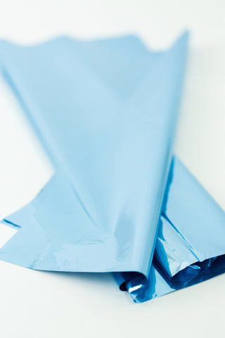light blue mylar tissue paper